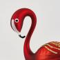 Flamingo aus Glas. Weinrot. Bild 2