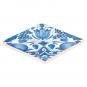 Replik Delfter Kachel »Eine Tulpe«, blau/weiß. Bild 2