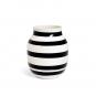 Schwarz-weiße Vase »Omaggio, groß«. Bild 2