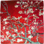 Seidentuch Vincent van Gogh »Mandelbaum«, rot. Bild 2