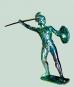 Statue Ares Messing 15 cm Bild 2