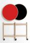 Tray Table. Tablett-Tisch rot-schwarz. Bild 2