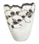 Vase Ginkgo, weiß/silber. Bild 2