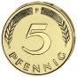 4er-Münzsatz 5 Pfennig - Prägejahr 1949 Bild 3