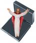 Christus 'Leonardo' mit gebogenem Balkenkreuz - Miniatur im Etui Bild 3