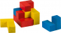 Holzpuzzle »Würfel«, farbig. Bild 3