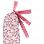 Lange Wärmflasche mit rosa Blüten. Bild 3