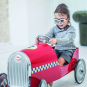 Rennfahrer Kostüm Kinder: Kappe & Brille. Bild 3
