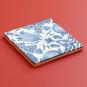 Replik Delfter Kachel »Eine Tulpe«, blau/weiß. Bild 3