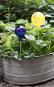 Rosenkugel für den Garten, blau und verspiegelt. Bild 3
