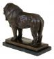 Bronzefigur Rembrandt Bugatti »Stolzer Löwe«. Bild 4