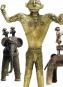 Elefanten, schaukelnde Götter und Tänzer in Trance. Bronzekunst aus dem heutigen Indien. Bild 4