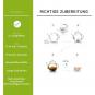 Erblüh-Tee-Blumen Grün. 6er-Set. Magnetbox mit Silberprägung. Bild 4
