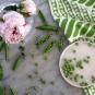 Geschirrhandtuch »Erbsen und Schoten«. Bild 4