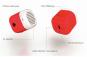KAKKOii Pantone Micro Speaker Flame Scarlet. Bild 4