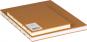 Mittelgroßes Skizzenbuch mit linierten Seiten, braun. Koptische Bindung. Bild 4