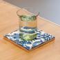 Replik Delfter Kachel »Eine Tulpe«, blau/weiß. Bild 4