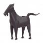 Stift- und Zettelhalter Pferd, schwarz. Bild 4