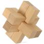 4er-Set mit 3-D-Holzpuzzles. Bild 5