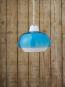 Hängelampe aus Glas, capriblau. Bild 5